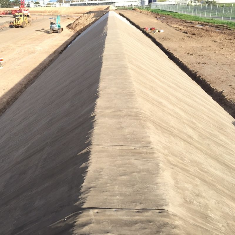 Embankment Stabilization Geosynthetic 1cm Concrete Canvas Cloth